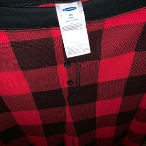 Old Navy Pants - Waffle knit jogger pants red plaid